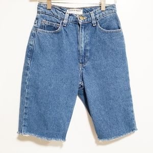 AMERICAN APPAREL JEANS High Waisted Bermuda Style